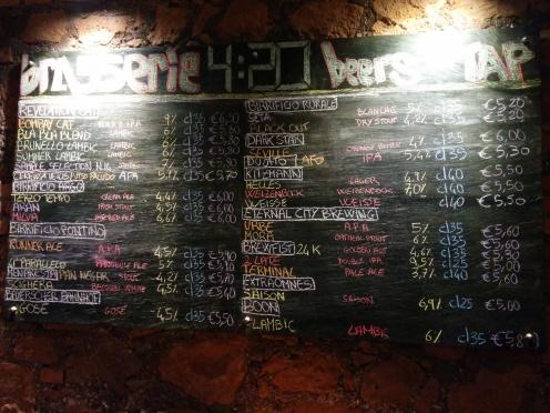 Turismo Cervecero (I): Roma (Visita a la Brasserie 4:20)